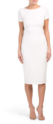 Zip Back Knit Dress