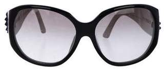 Versace Embellished Gradient Sunglasses