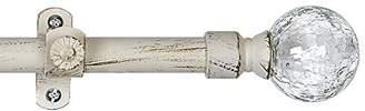 Achim Home Furnishings Metallo Ilana Curtain Rod and Finial