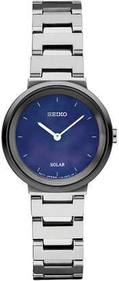 Seiko Women Solar Essentials Stainless Steel Bracelet Watch 27.5mm