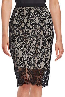 Elie Tahari Lace Pencil Skirt