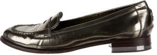 Tory Burch Tory Burch Metallic Round-Toe Loafers