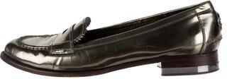 Tory BurchTory Burch Metallic Round-Toe Loafers