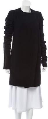 Rick Owens Wool Knee-Length Coat