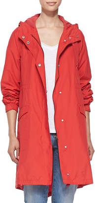 Eileen Fisher Hooded Long Anorak Jacket, Petite
