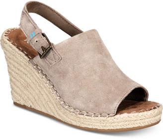 Toms Monica Slingback Espadrille Wedges Women Shoes