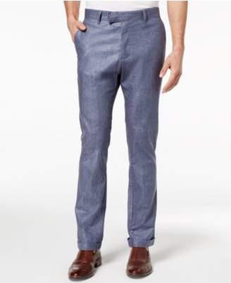 Ryan Seacrest Distinction Ryan Seacrest DistinctionTM Men's Slim-Fit Chambray Cuffed Pants, Created for Macy's