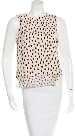 Kate SpadeKate Spade New York Sleeveless Cheetah-Print Top