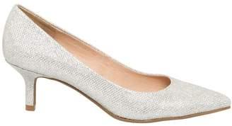 Le Château Women's Glitter Pointy Toe Mid Heel Pump