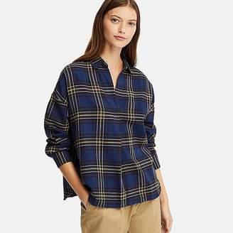 at Uniqlo · Uniqlo Women s Flannel Checked Skipper Long-sleeve Shirt 05cc93d05
