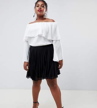 Asos Design Curve Pleated Mini Skirt