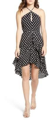 Lush Sleeveless Knit Shirring Dress