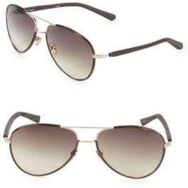 Linda Farrow Snakeskin 60MM Aviator Sunglasses