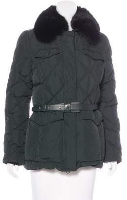 Post Card Fur Belted Coat