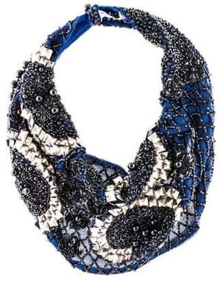 Mignonne Gavigan Beaded Collar Necklace Blue Beaded Collar Necklace