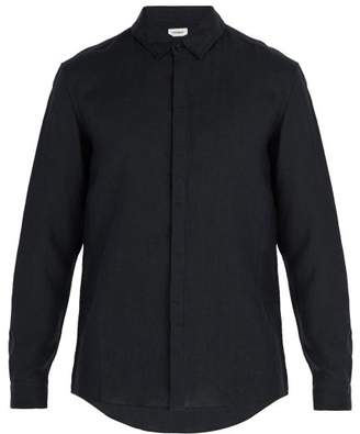 Commas - Single Cuff Linen Shirt - Mens - Black