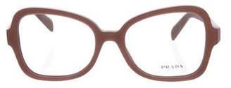 Prada Matte Square Frame Eyeglasses