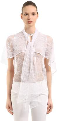 Givenchy Lace Shirt With Cape Sleeves