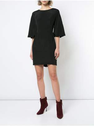 ADAM by Adam Lippes Silk Crepe Mini Dress With Flutter Sleeve