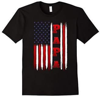 Mens American Flag Patriotic Papa T Shirt on Christmas