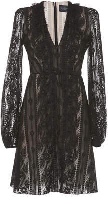 Giambattista Valli Long Sleeve Cotton Blend Mini Dress