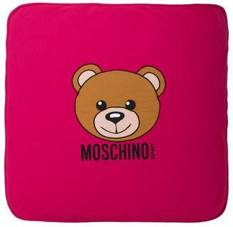 Moschino Kids Teddy Toy print blanket