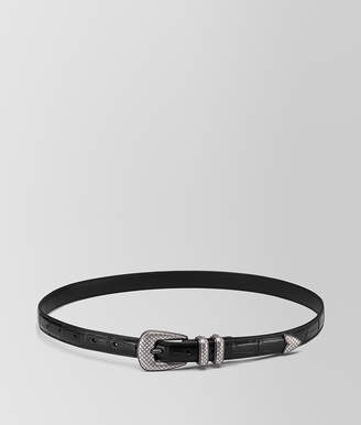 Bottega Veneta NERO CROCODILE BELT