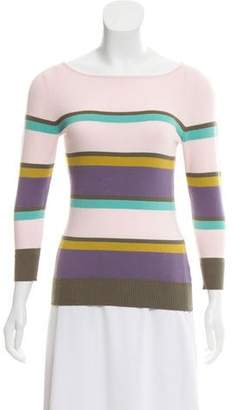 Milly Long-Sleeve Striped Sweater