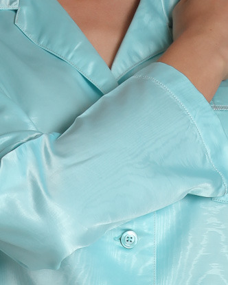 Monaco Moiré Satin Long Sleeve Pajama