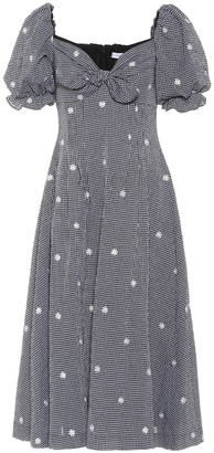 REJINA PYO Naomi cotton-blend gingham dress