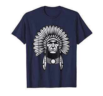 Native American Chief T-Shirt Indian Tribe Feather Headdress