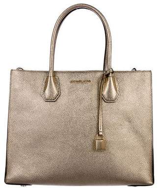 MICHAEL Michael Kors Mercer Large Metallic Leather Tote
