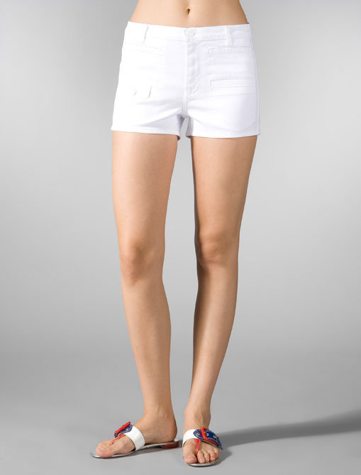 7 For All Mankind Georgia Short in Clean White