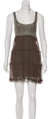 Faith Connexion Silk Sleeveless Mini Dress