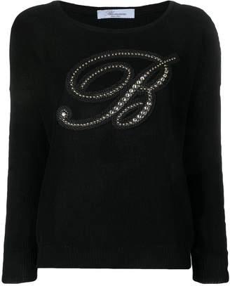 Blumarine logo knitted top