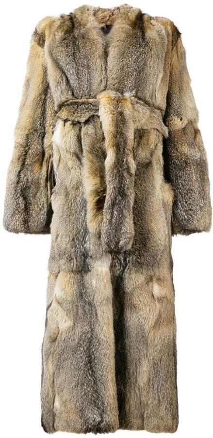 Liska Arimova belted fur coat