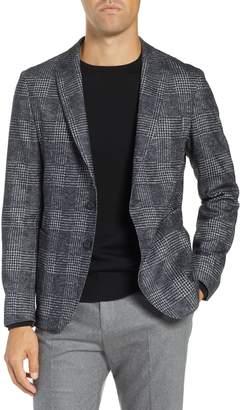 BOSS Nixan Slim Fit Plaid Wool & Cotton Sport Coat