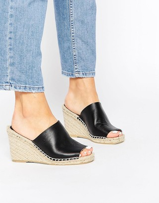 Bronx Espadrille Heeled Leather Mules $65 thestylecure.com