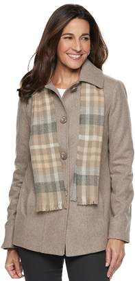 London Fog Tower By London Fig Women's TOWER by Wool Blend Jacket & Scarf Set