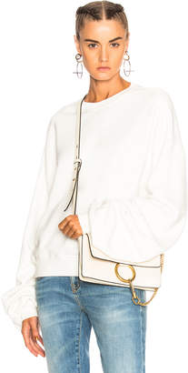 R13 Pleated Sleeve Sweatshirt
