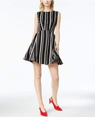 Bar III Striped Fit & Flare Dress, Created for Macy's