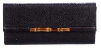 Gucci Pebbled Bamboo Clutch