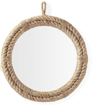 Serena & Lily Nautical Rope Round Mirror