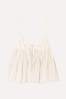 Brock Collection Ombrello Striped Cotton Camisole - Off-white