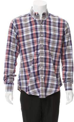 Thom Browne Plaid Button-Up Shirt