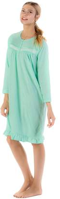 Casual Nights Women's Cozy Long Sleeve Fleece Nightgown - XXX-Large