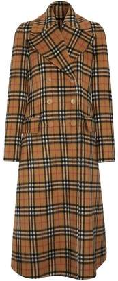 Burberry Vintage Check Alpaca Wool Tailored Coat