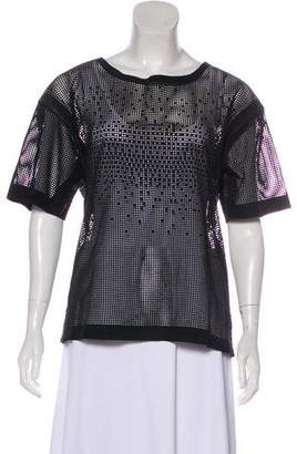 Closed Perforated Leather Top