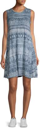 Style&Co. Style & Co. Sleeveless Printed Swing Dress