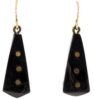 Ashley Pittman Horn Drop Earrings